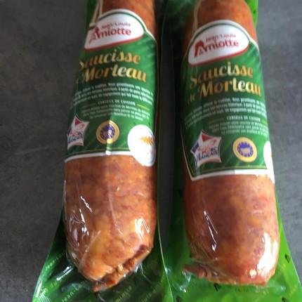 Parmentier de saucisse de Morteau et purée de potiron