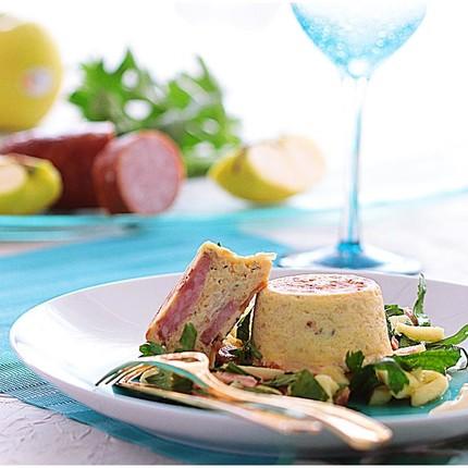 Chaud froid de Morteau fromagère au céleri et pommes