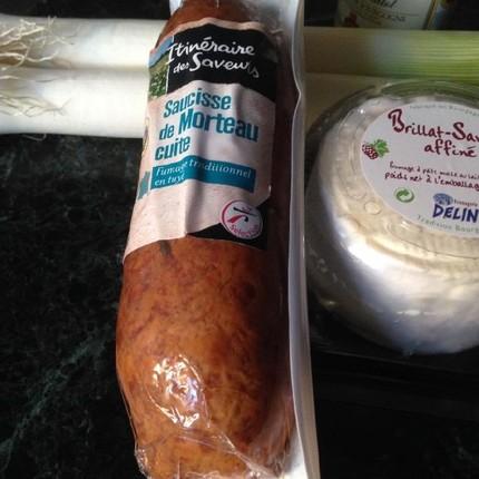Nems de poireaux, crème au Brillat-Savarin et ses croûtons