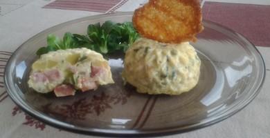 Flan courgette saucisse et tomme de Savoie