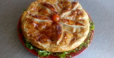 "Tourte"" la Belle de Morteau au Brillat Savarin"""
